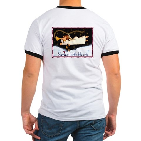 - Angel Hearts Ringer T by CafePress