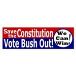 Save the Constitution Bumper Sticker