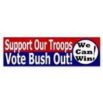Support Our Troops (Bush) Bumper Sticker