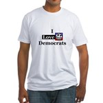 I Love Democrats Fitted Tee