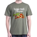 RACQUETBALL PLAYER Funny Fueled By Pizza Tshirts