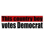 Country Boy Democrat Bumper Sticker