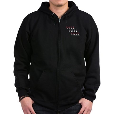 Obama Shadows Blk  Obama Zip Hoodie dark by CafePress