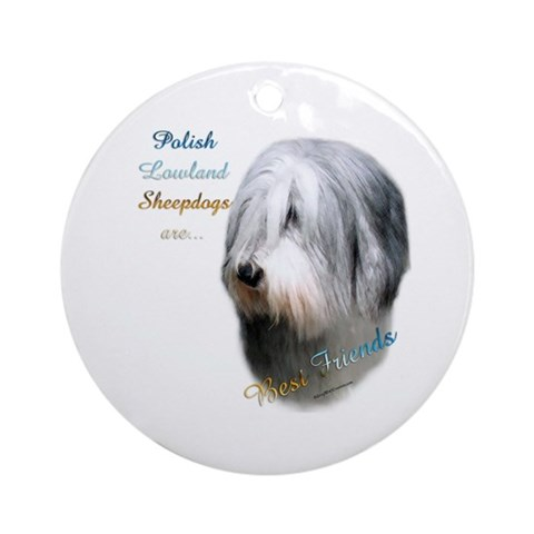 Polish Lowland Best Friend Ornament Round Pets Round Ornament by CafePress