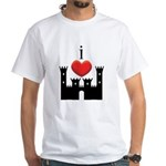 I LOVE CASTLE White T-Shirt