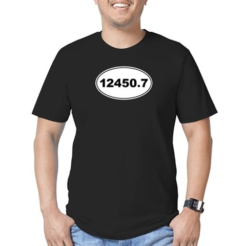 12450.7  Marathon Men's Fitted T-Shirt dark by CafePress