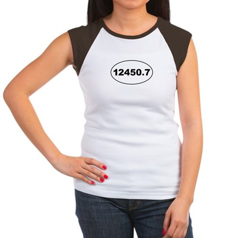 12450.7  Marathon Women's Cap Sleeve T-Shirt by CafePress