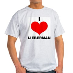 I Love Lieberman Ash Grey T-Shirt