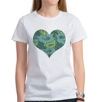 LARGE GREEN PAISLEY Women's T-Shirt