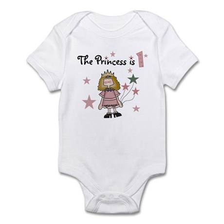 Princess 1st Birthday Infant Creeper