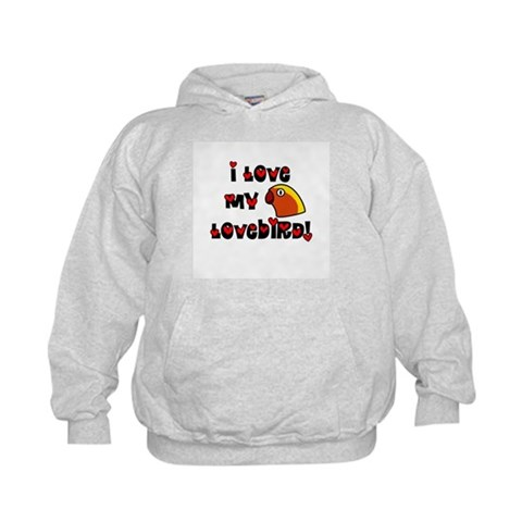 Anime Fischer's Lovebird  Pets Kids Hoodie by CafePress