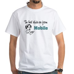 Best Studs Mobile White T-Shirt