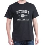 Detroit Basketball Dark T-Shirt
