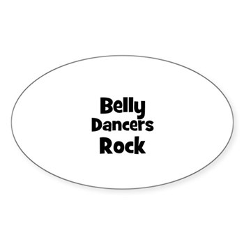 BELLY DANCERS  Rock Sticker (Oval)