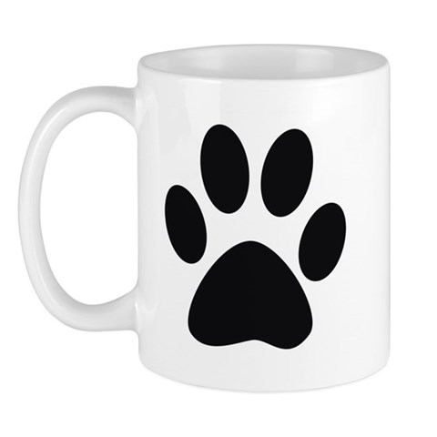 Paw Print Cat Mug by CafePress