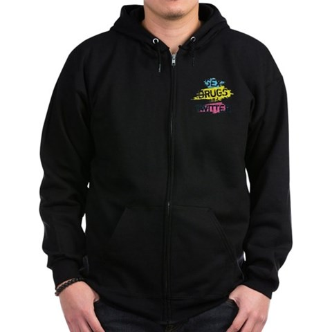 Sex Drugs And Twitter  Internet Zip Hoodie dark by CafePress