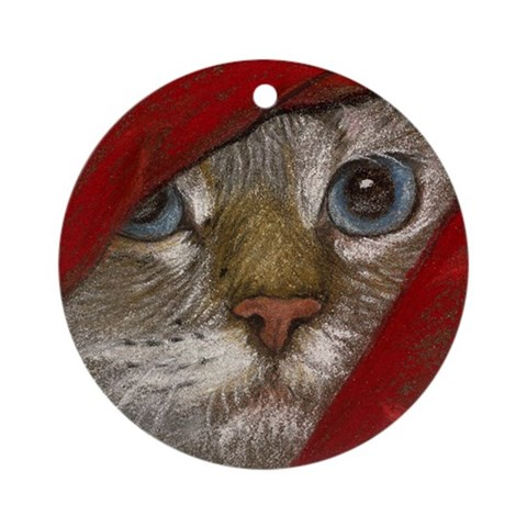 Latte Hiding keepsake Ornament Round Cat Round Ornament by CafePress