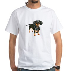 Lily Dachshund Dogs Here White T-Shirt