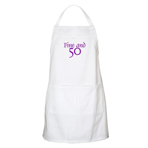 50 50th Birthday Men Women BBQ  Birthday Apron by CafePress