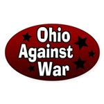 Ohio Against War Oval Bumper Sticker