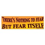 Nothing to Fear but Fear Bumper Sticker