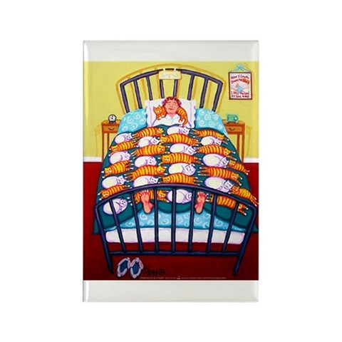 Cat Quilt Pets Rectangle Magnet by CafePress