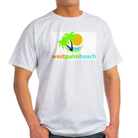 West Palm Beach Ash Grey T-Shirt Florida Light T-Shirt by CafePress