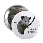 Peace Possum Metal Pinback Button