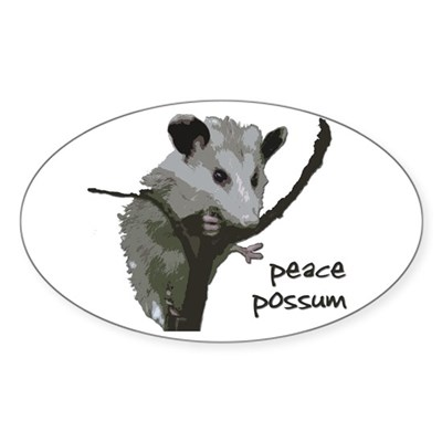 Peace Possum Bumper Sticker