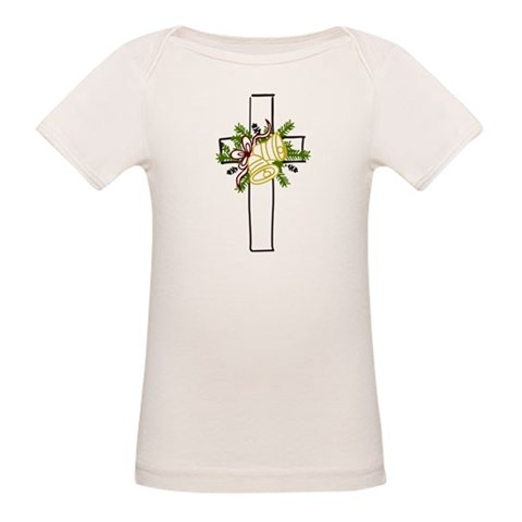 Christmas Cross Holiday Organic Baby T-Shirt by CafePress