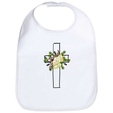 Christmas Cross Holiday Bib by CafePress