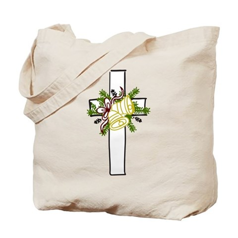 Christmas Cross Holiday Tote Bag by CafePress