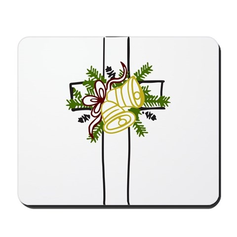 Christmas Cross Holiday Mousepad by CafePress