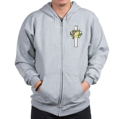 Christmas Cross Holiday Zip Hoodie by CafePress