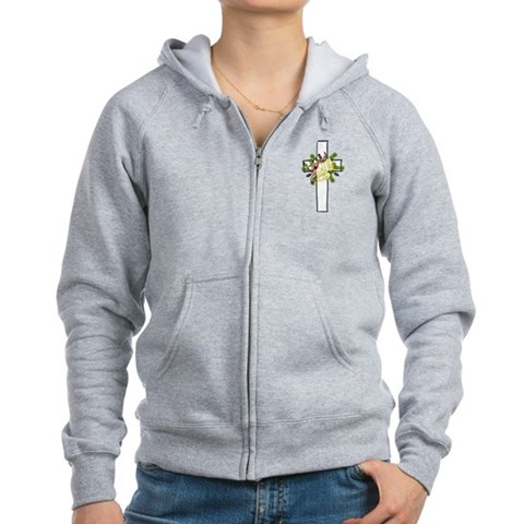 Christmas Cross Holiday Women's Zip Hoodie by CafePress