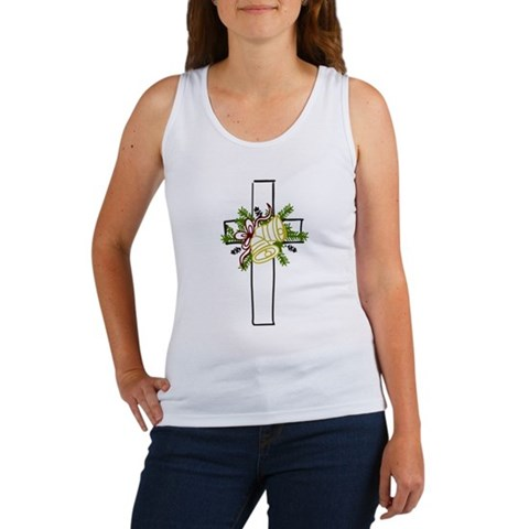Christmas Cross Holiday Women's Tank Top by CafePress