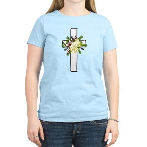 Christmas Cross Holiday Women's Light T-Shirt by CafePress