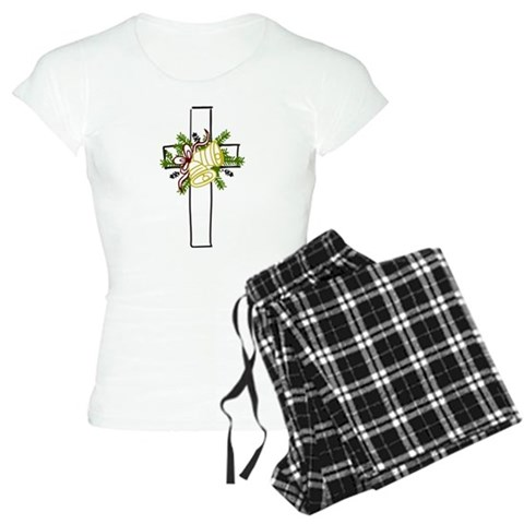 Christmas Cross Holiday Women's Light Pajamas by CafePress