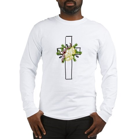 Christmas Cross Holiday Long Sleeve T-Shirt by CafePress