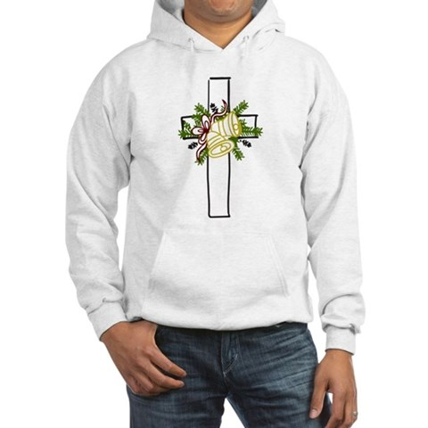 Christmas Cross Holiday Hooded Sweatshirt by CafePress