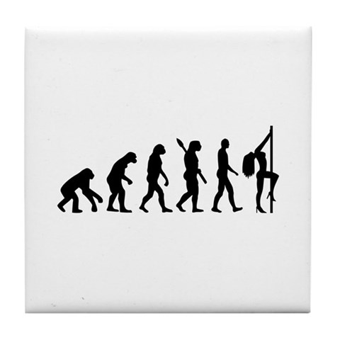 Evolution sexy woman  Dance Tile Coaster by CafePress