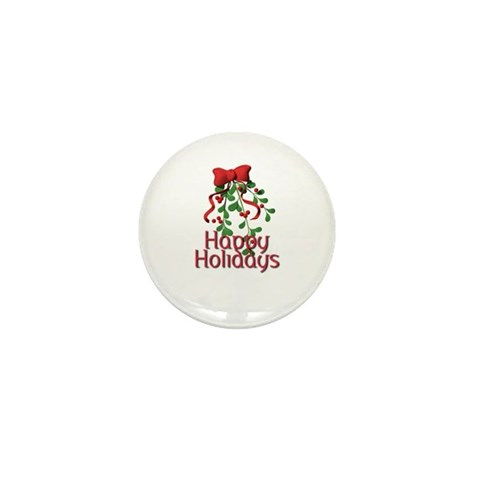 Happy Holidays Holiday Mini Button 100 pack by CafePress