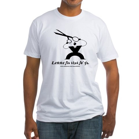 - Don't be afraid, I'm a barber Humor Fitted T-Shirt by CafePress