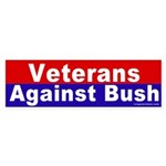 Veterans Against Bush Bumper Sticker