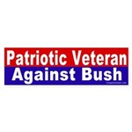Patriot Against Bush Bumper Sticker