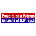 Proud Veteran Vs. Bush Bumper Sticker