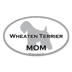 Wheaten Terrier MOM Sticker (Oval)