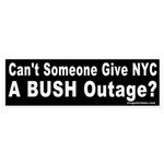 Give NYC a Bush Outage Bumper Sticker