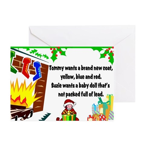 Lead Christmas Toys Christmas Cards 10 pack Funny Greeting Cards Pk of 10 by CafePress