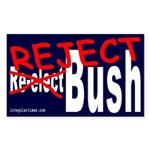 Reject Bush Sticker (Rectangular)